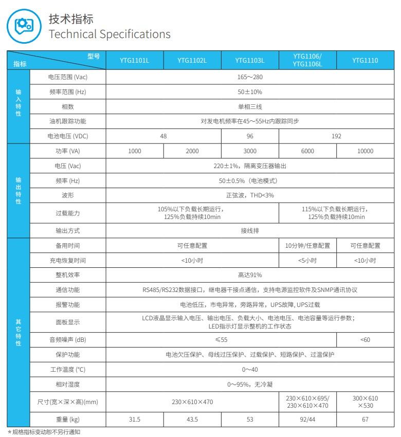 科华YTG系列小功率UPS(1-10kVA)